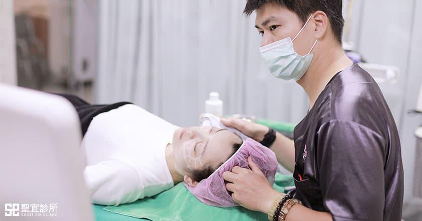 Ulthera極線音波拉提治療中
