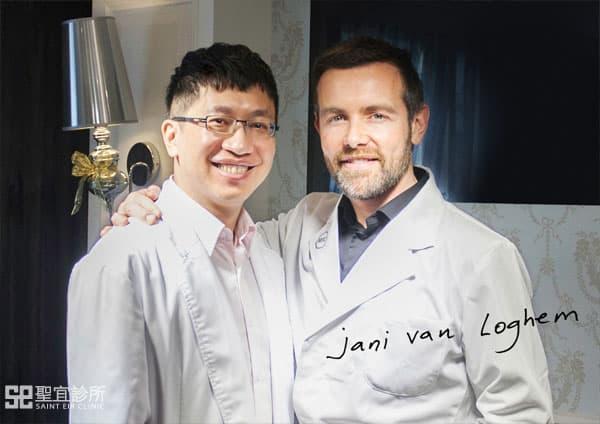 翁書賢醫師與MERZ原廠講師Jani Van Loghem合影