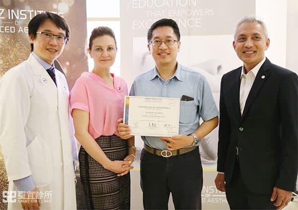翁書賢醫師參與晶亮瓷原廠所舉辦之研討會