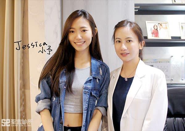 沈若蘭醫師與廣告model小予合影