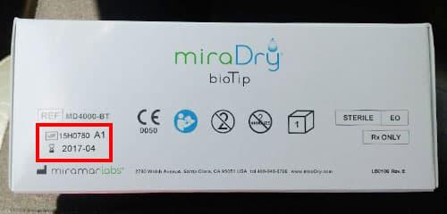 miraDry原廠正貨探頭序號